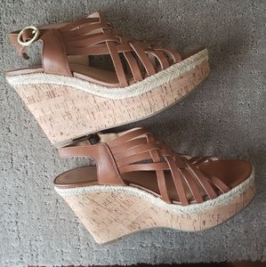 Franco Sarto Brown Tammie Wedge Ladies 8.5
